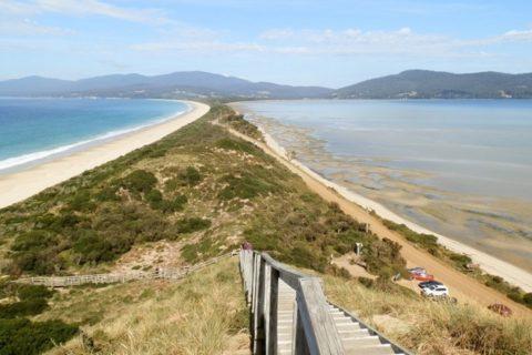 The Neck from Truganini Lookout, Bruny Island, Tasmania