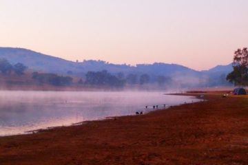 Lake Moogerah Campground at Dawn, Queensland