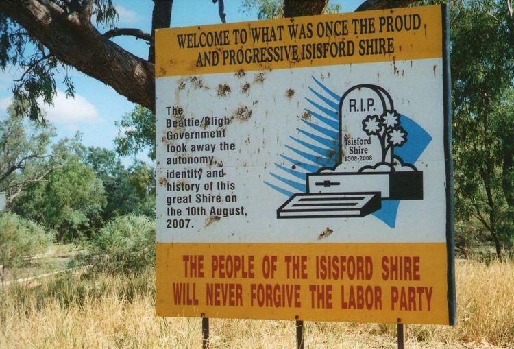 Isisford Entrance Sign, Queensland