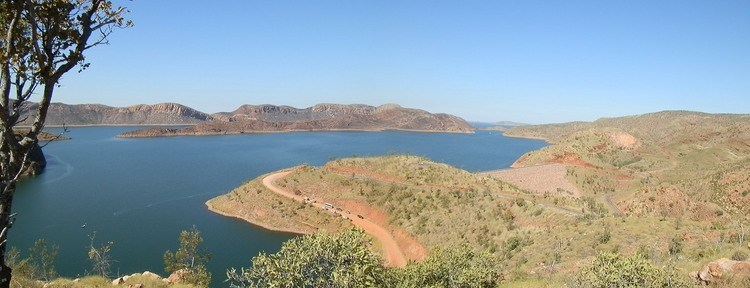 Lake Argyle from Lookout, Western Australia