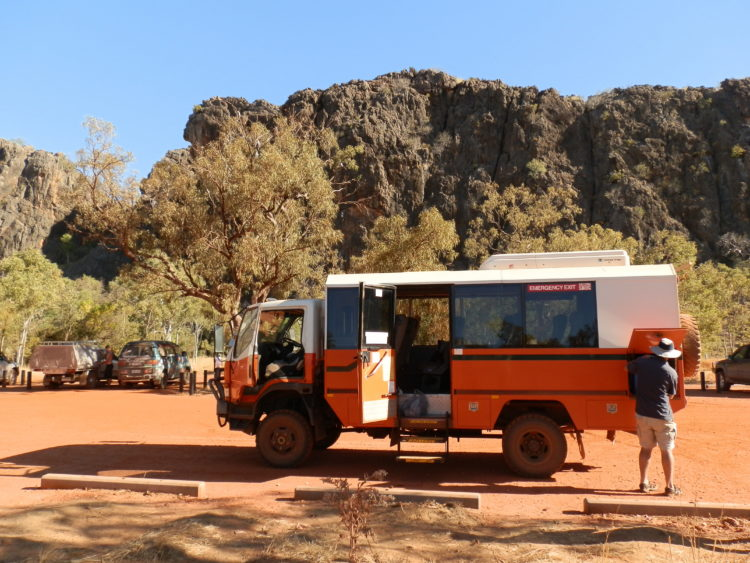 Tour Bus at Tunnel Creek