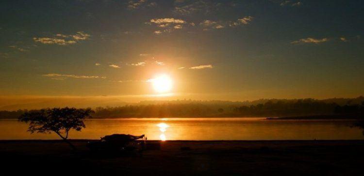 Lake Moogerah Holiday Park Campground at Sunrise