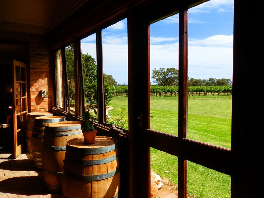 The View from the Winehouse, Langhorne Creek, South Australia