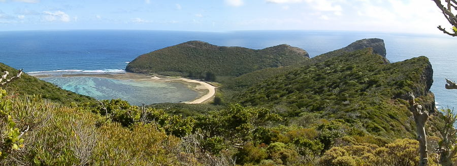 North Beach and Mt Eliza from Kims Lookout, Lord Howe Island