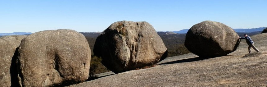 Boulders on Bald Rock climb, via Tenterfield NSW