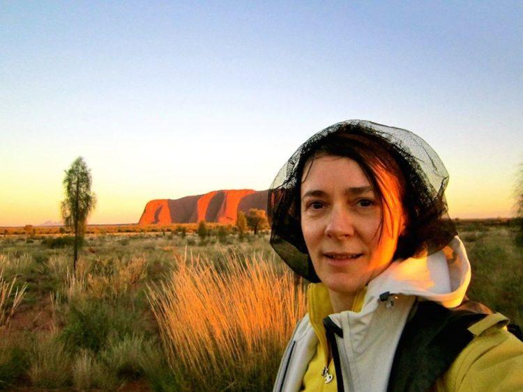 Michela at Uluru (Photo Courtesy MIchela Fantinel, Rocky Travel)