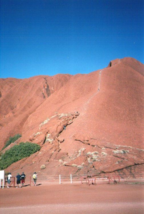 Uluru Track to the Top, Central Australia