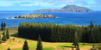 Phillip Island offshore from Norfolk Island