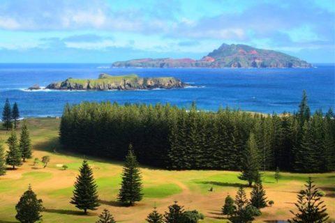 Phillip Island offshore from Norfolk Island