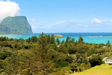 Mt Lidgbird and Mt Gower from Malabar Hill, Lord Howe Island