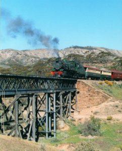 Steam Train on Pichi Richi Railway, Flinders Ranges, South Australia