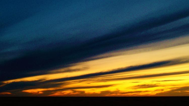 Deniliquin Sunset over the Hay Plain, New South Wales