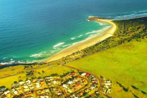 North New South Wales Coastline from the Air, Australia