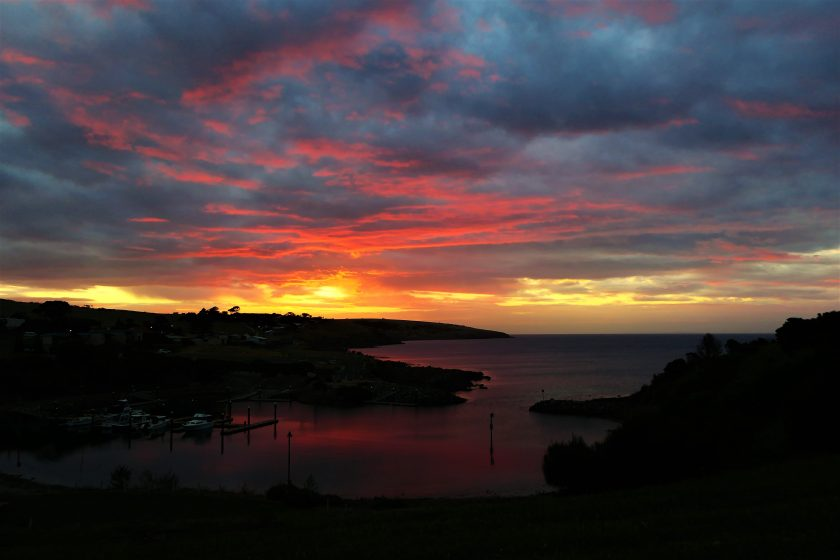 Sunset at Christmas Cove, Kangaroo Island